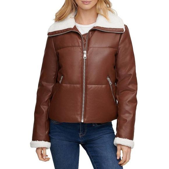 Brown Levi's Winter Fur Jacket